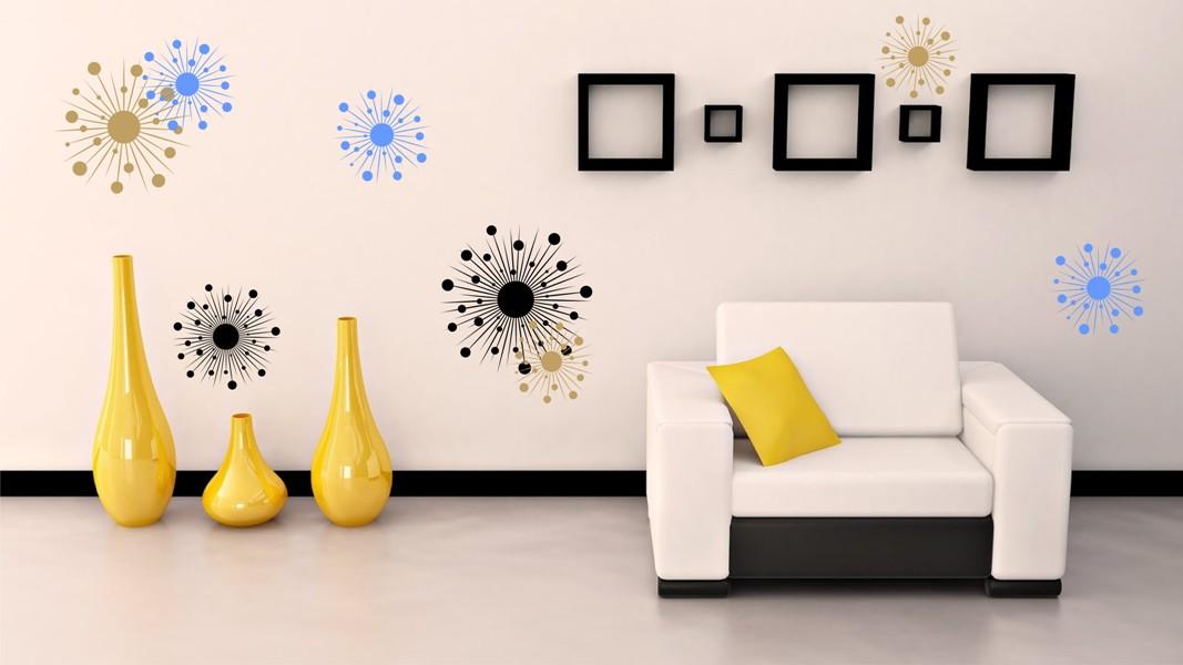 Geometrie stickere perete stickere perete - Corso interior design on line ...